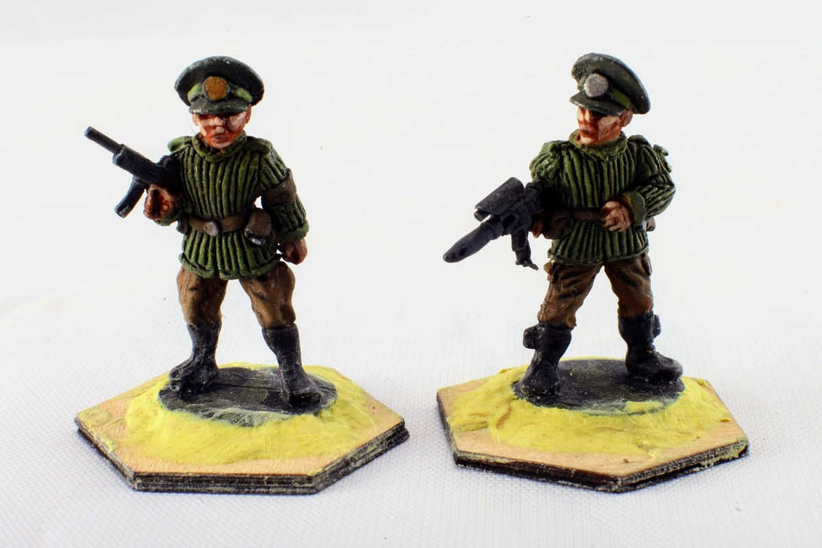 Painting scheme for GZG 25mm ESU Heavy infantry.
