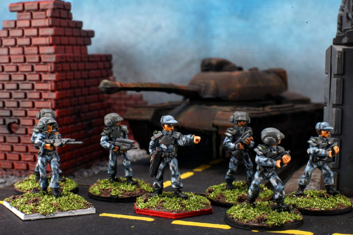 GZG 25mm ESU figures for Tomorrows War