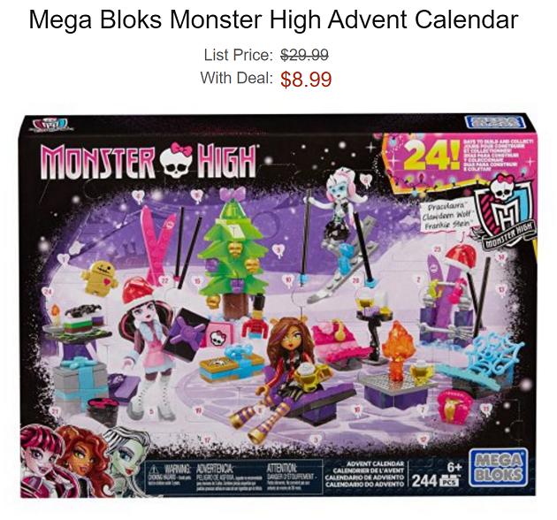 Mega Bloks Monster High Advent Calendar 8 99