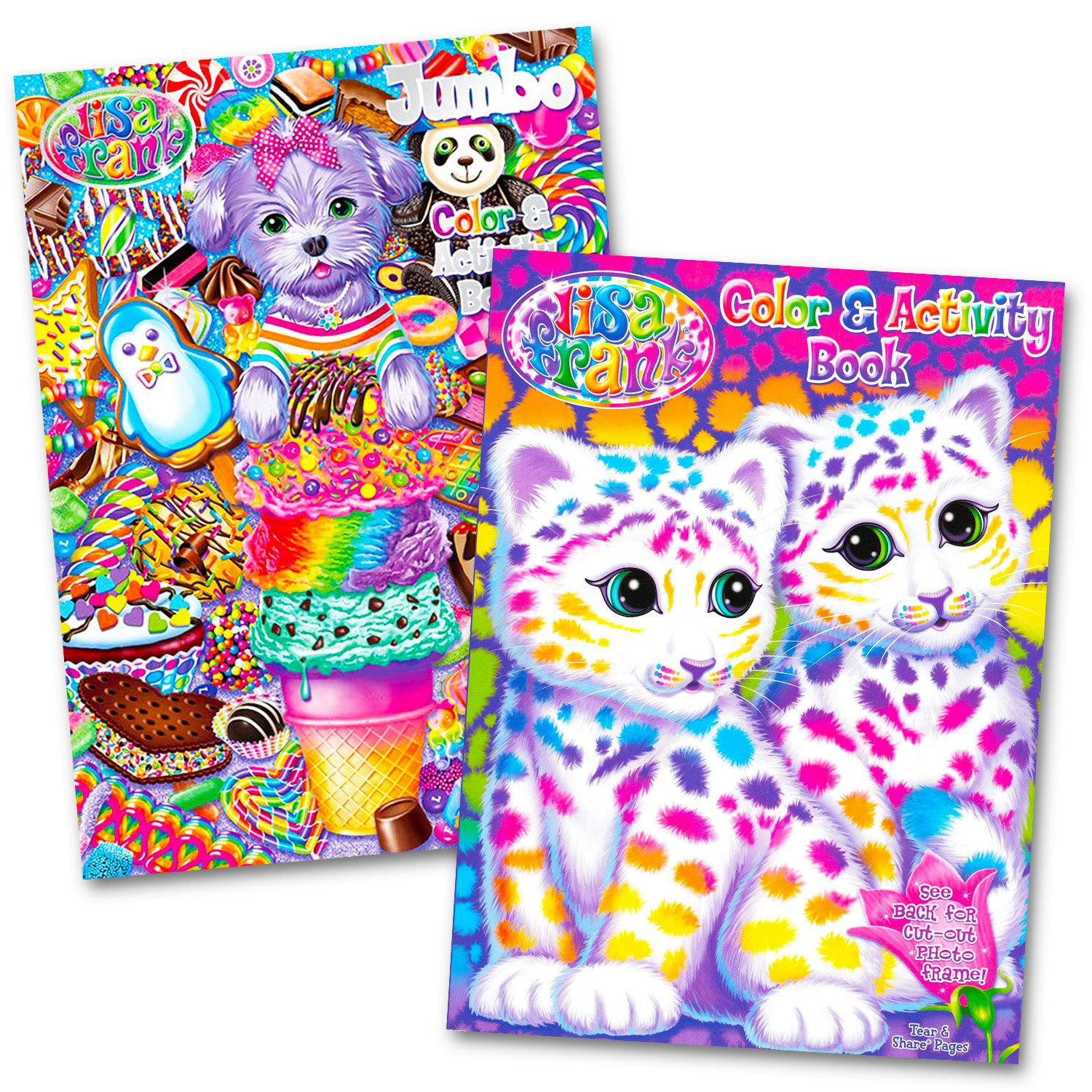 Lisa Frank Coloring And Activity Book Set Under 7