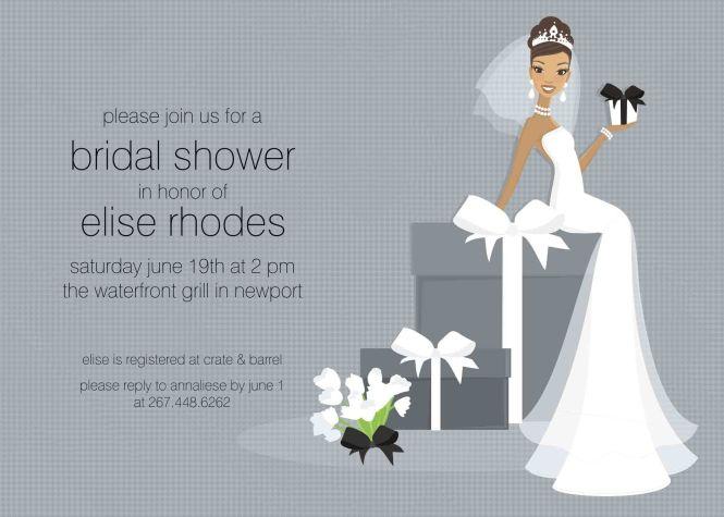 003 Rare Free Wedding Shower Invitation