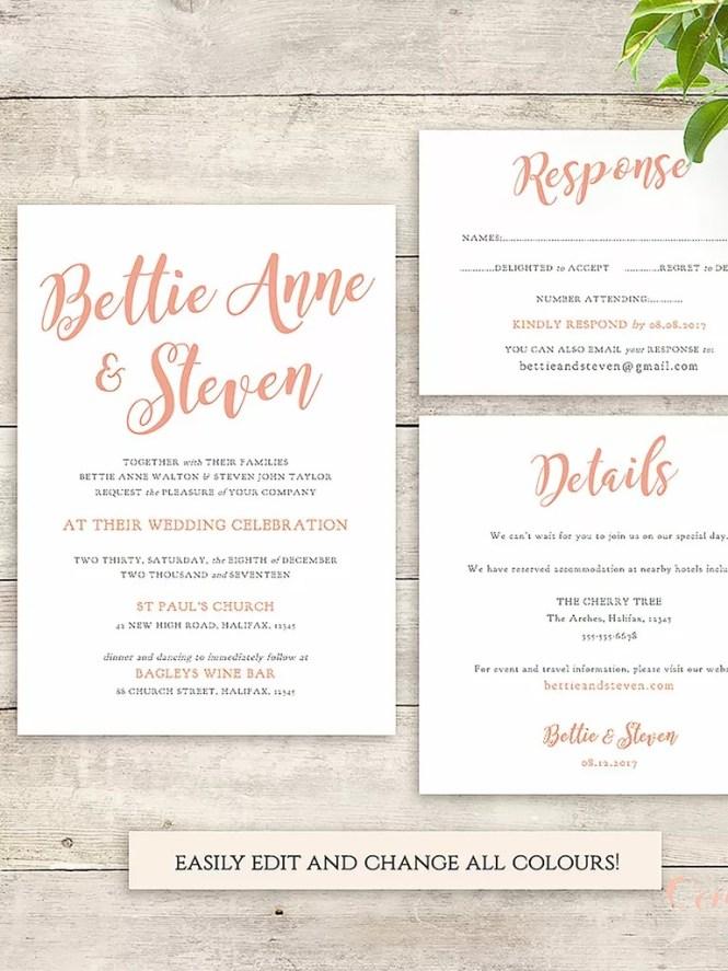 006 Amazing Wedding Invite Wording