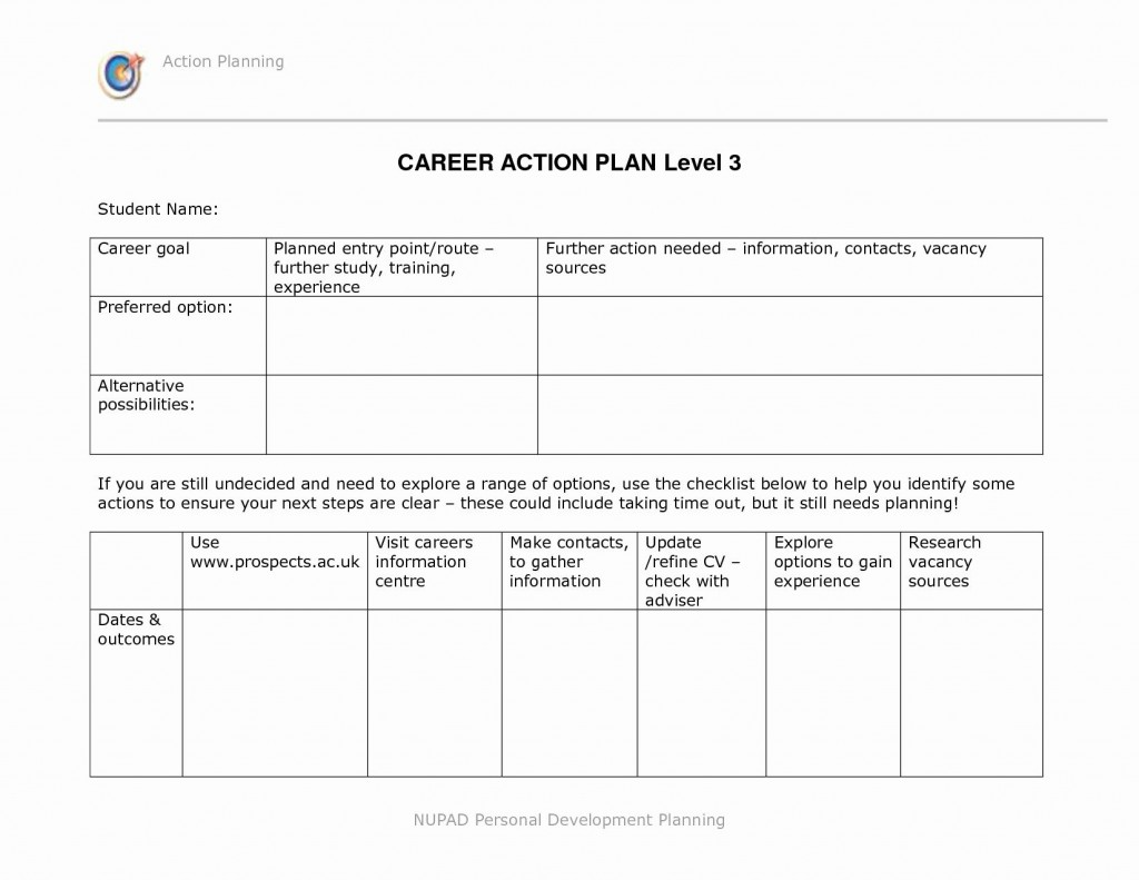 Career Development Plan Template Addictionary