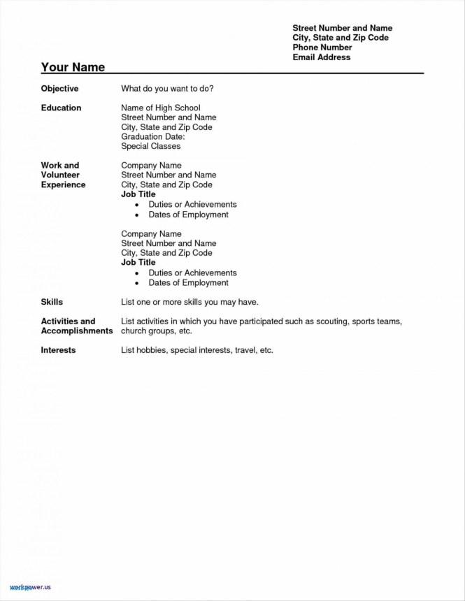 High School Graduate Resume Template