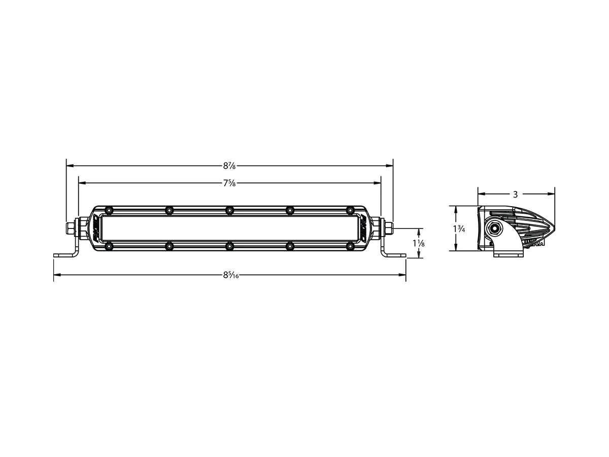 Buy Rigid Sr 6 Inch White Spot Flood Combo Led Light Bar