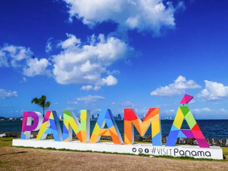 Visit Panama Sign on the Panama City Causeway