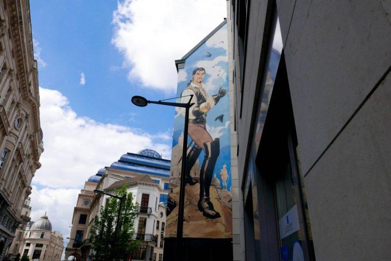 Brussels Comic Strip Wall