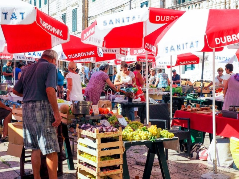 Gundulićeva Poljana Market Dubrovnik Croatia Best Food Markets in Europe