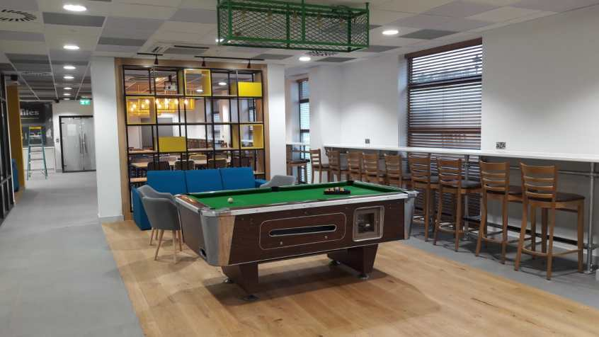 Pool table in new renovated office