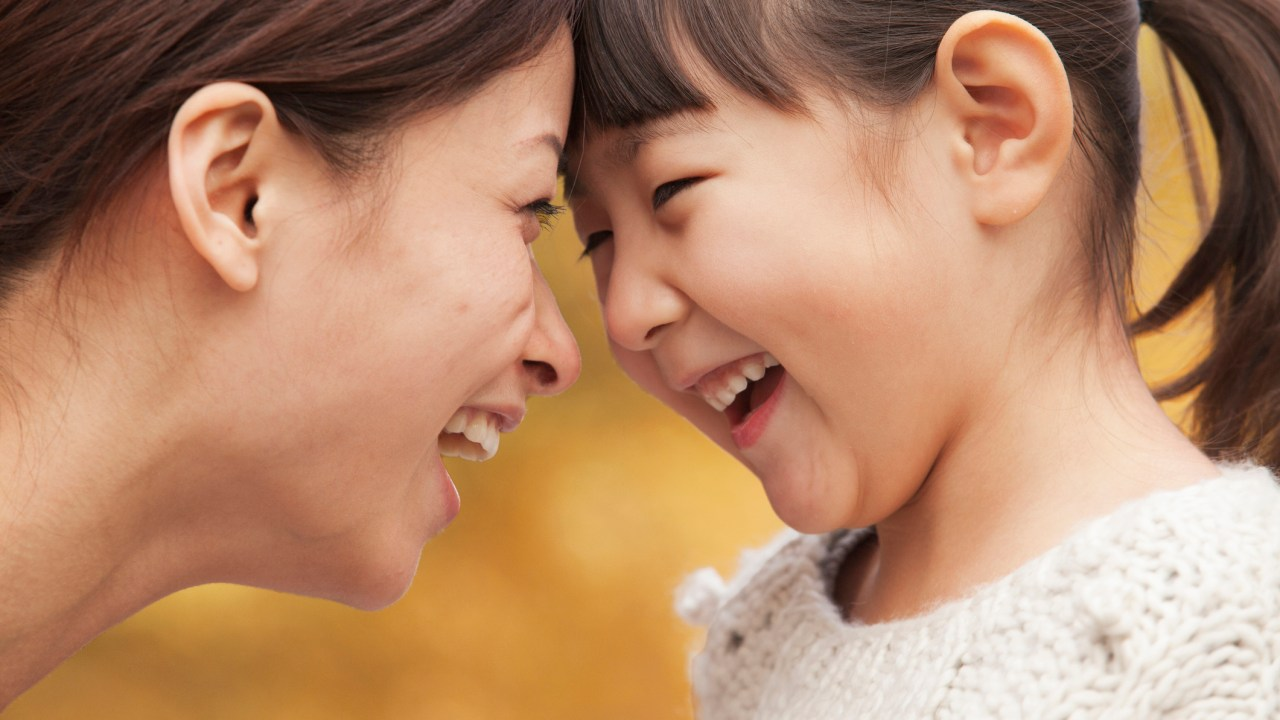 Mother and Daughter with ADHD face to face