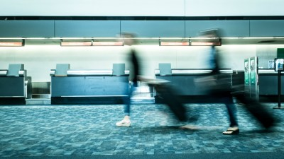 adhd woman rushing travel