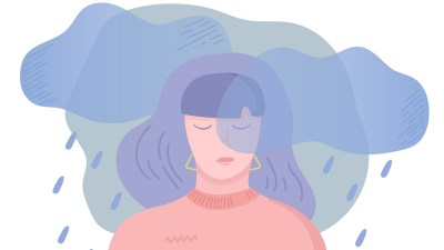 An aillustration of a woman with ADHD and depression