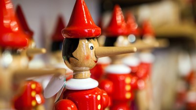 Traditional wooden Pinocchio toy