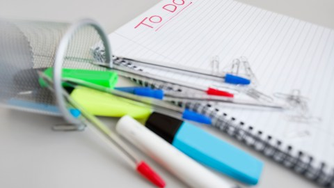 A paper to-do list rather than a digital one, is a good strategy for managing ADHD in the workplace.