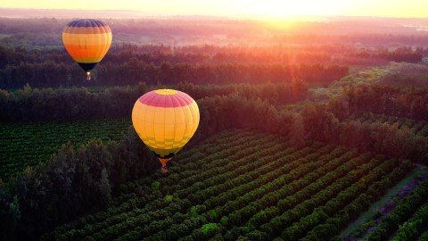 Hot air balloon demonstrates rising above people who want you to fit in their box and don't accept ADHD.