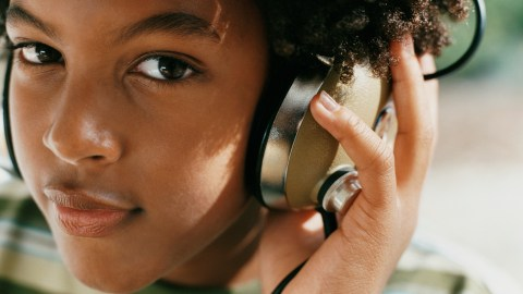 A person with ADHD listens to music to focus