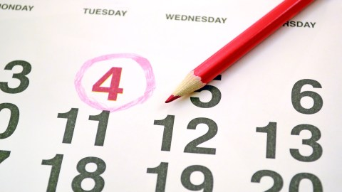 A calender with an important date noted, which is an important part of the best school planners.