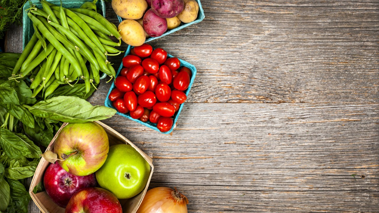 Fruits and vegetables, part of an ADHD diet plan for kids