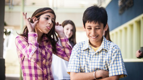 A child doesn't see social cues that are signs of bullying due to his ADHD or autism.