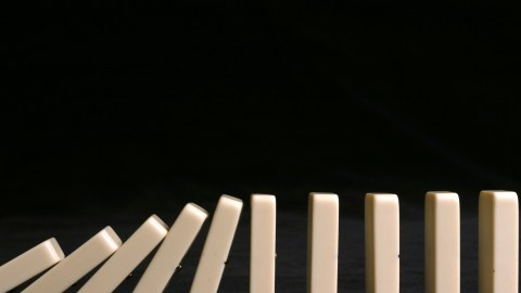 A set of dominoes representing the feelings of shame in the ADHD mind