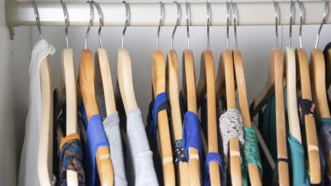 An organized closet. Getting rid of something for every new item is an organization hack that will keep it that way.