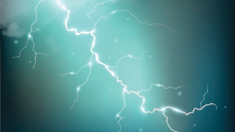 Realistic thunderstorm background with clouds, a metaphor for flashes of ADHD emotions