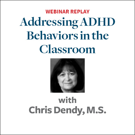 addressing adhd behavior in the classroom