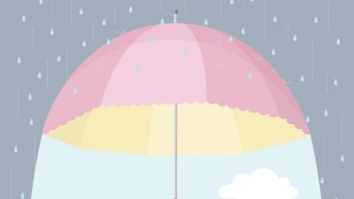 An umbrella under rain, representing how to advocate for your child