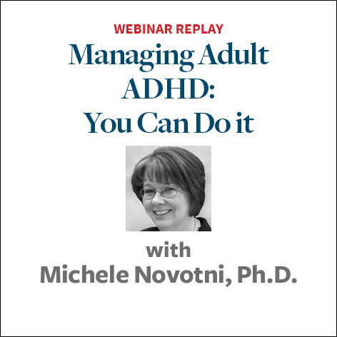 managing adult adhd you can do it