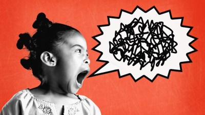 A girl with oppositional defiant disorder yells