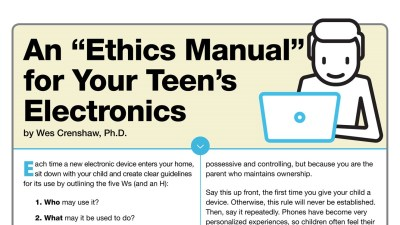 "An ""Ethics Manual"" for Your Teen's Electronics Time"