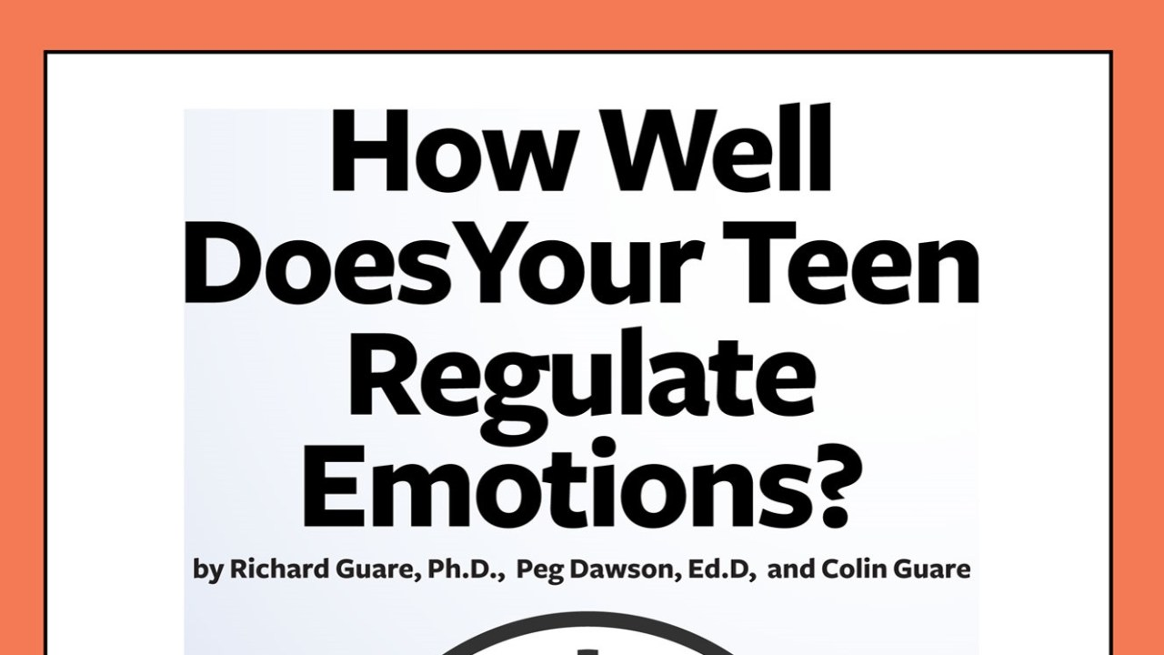 Cover: How Well Does Your Teen Regulate Emotions?