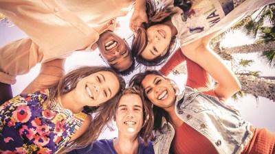 Friends in a circle