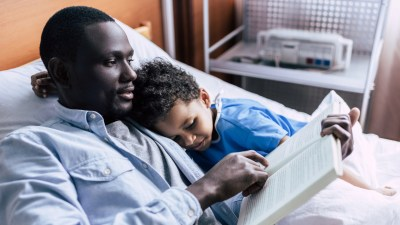 A dad reads with his son to repair their relationship after being a toxic parent.