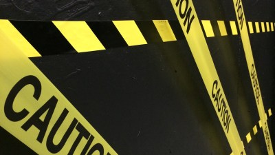 Caution tape to alert parents to the dangers of not treating ADHD