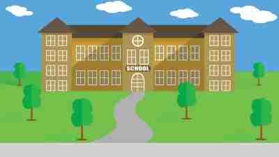 Collaborating For School Success: Schoolhouse illustration