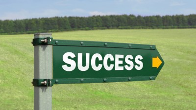 A success sign, pointing the path for ADHD college students who learn how to study