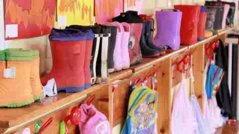 multicolor rain boots