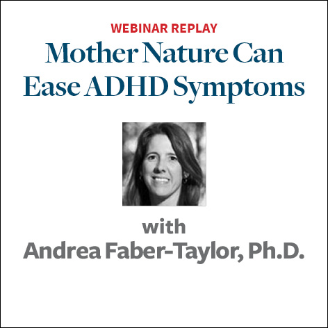 mother nature can ease adhd symptoms