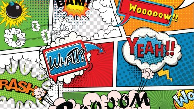 adults with ADHD can focus when something captures their attention, like crashes, booms, and flares in a comic strip