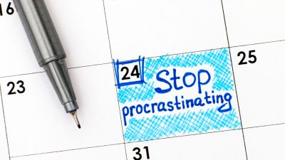 Stop Procrastinating in calendar
