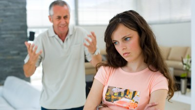 Father and ADHD daughter in argument