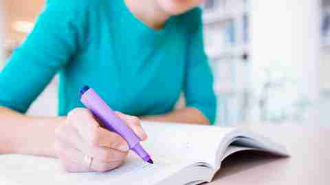 Highlighting and planning can help with difficult assignments and managing ADHD in high school.