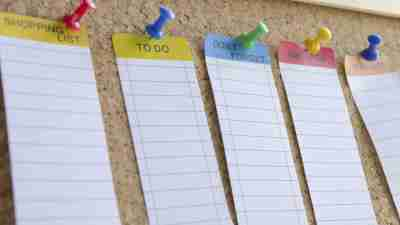Note board for ADHD students to help with working memory
