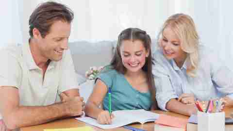 Parents help their ADHD daughter with her working memory