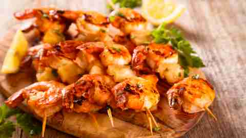 BBQ shrimp is a kid-friendly and healthy meal idea.