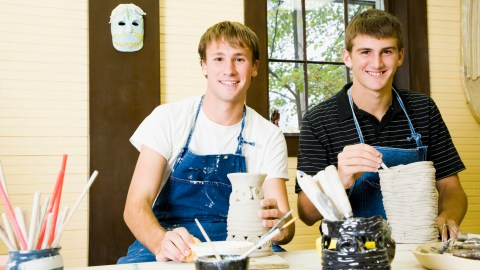 Two college students with ADHD take a ceramics class.
