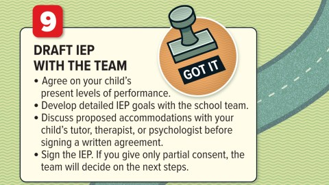 Draft IEP with the team