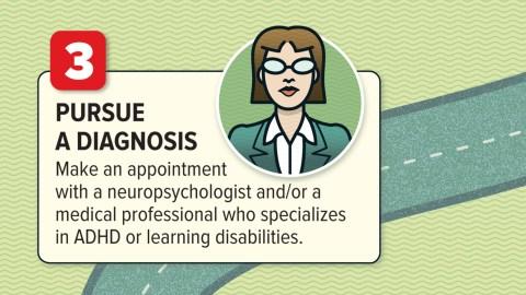Pursue a diagnosis