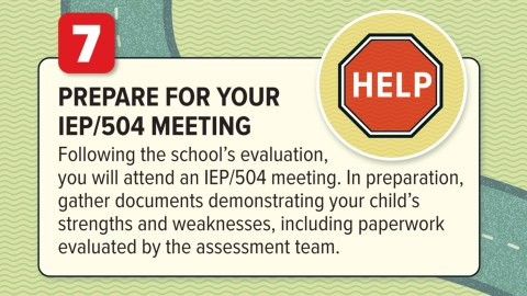 Prepare for your 504 meeting
